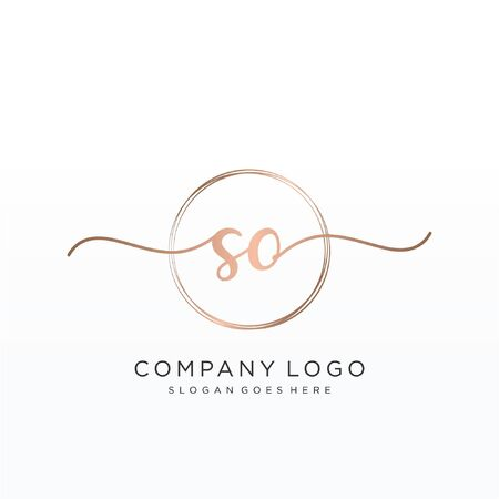 Initial handwriting logo design Beautyful designhandwritten logo for fashion, team, wedding, luxury logo.