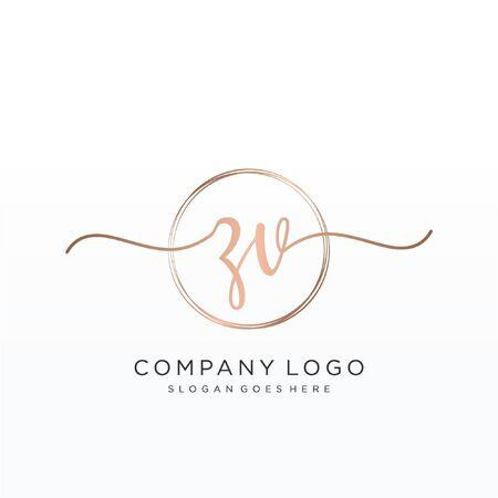 Initial handwriting logo design Beautiful design handwritten logo for fashion, team, wedding, luxury logo. Logo