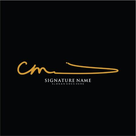 initials signature logo. Handwriting logo vector templates. Logo for business, beauty,fashion, signature. Logó