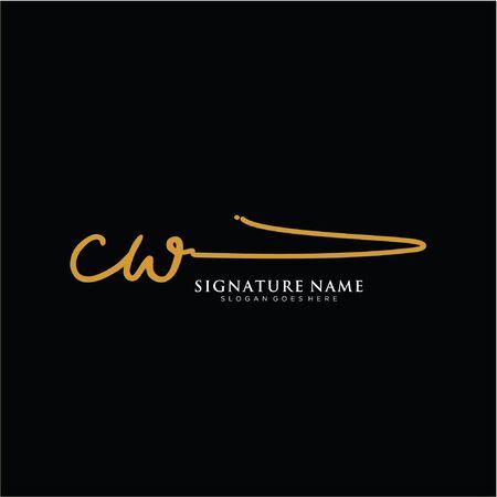 initials signature logo. Handwriting logo vector templates. Logo for business, beauty,fashion, signature. Logo