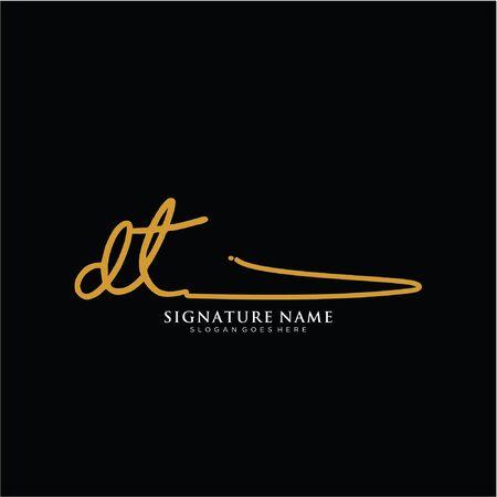 initials signature logo. Handwriting logo vector templates. Logo for business, beauty,fashion, signature.