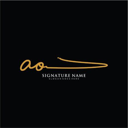 initials signature. Handwriting templates. icon for business, beauty,fashion, signature. 일러스트