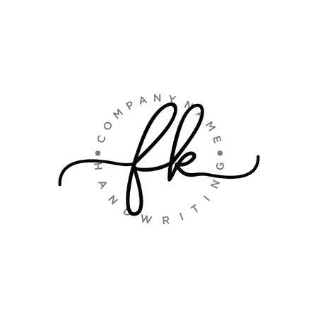 Initial handwriting logo design Beautyful designhandwritten logo for fashion, team, wedding, luxury logo. Logó