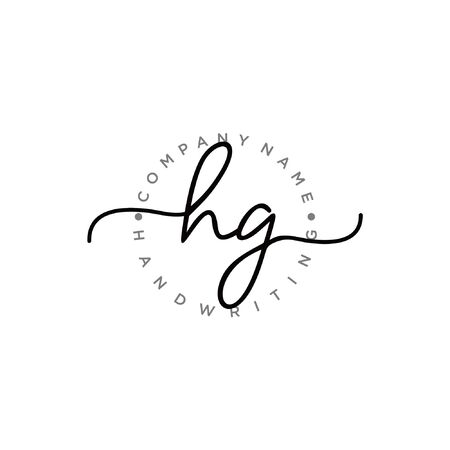 Initial handwriting logo design Beautiful design handwritten logo for fashion, team, wedding, luxury logo.