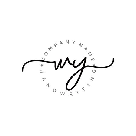 Initial handwriting logo design Beautyful designhandwritten logo for fashion, team, wedding, luxury logo.