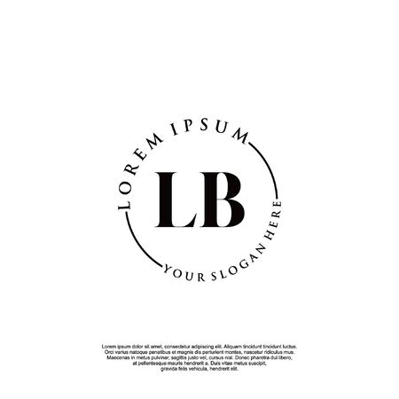 Initial luxury design logo for fashion and wedding.