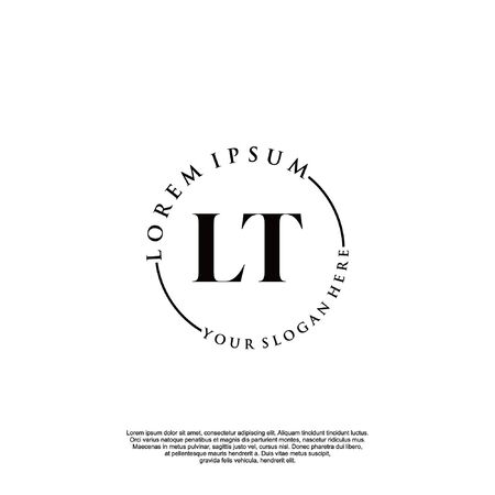 Initial luxury design logo for fashion and wedding.