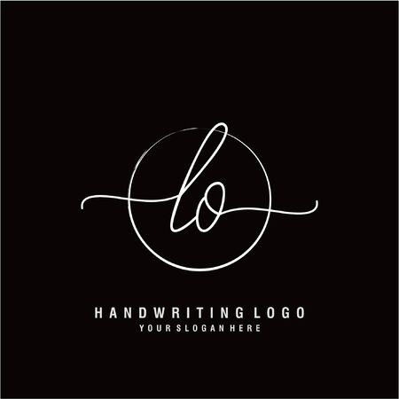 Initial handwriting logo design Beautiful design handwritten logo for fashion, team, wedding, luxury logo. Ilustração