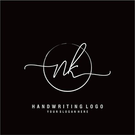 Initial handwriting logo design Beautiful design handwritten logo for fashion, team, wedding, luxury logo. Ilustrace