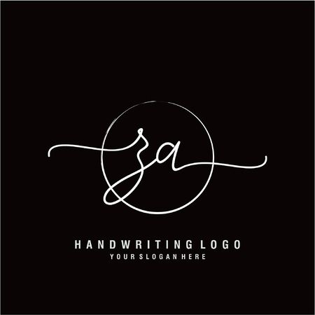 Initial handwriting logo design Beautyful designhandwritten logo for fashion, team, wedding, luxury logo. Logo