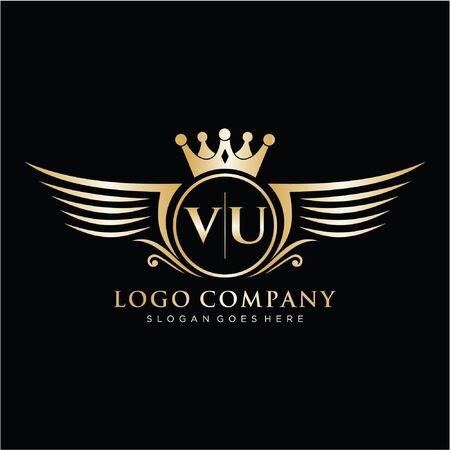 Initial luxury logo design for fashion and wedding.