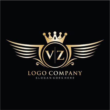 Initial luxury logo design for fashion and wedding.