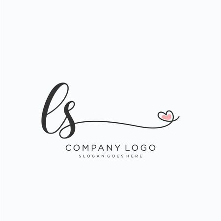 LS Initial handwriting logo design Beautyful designhandwritten logo for fashion, team, wedding, luxury logo.