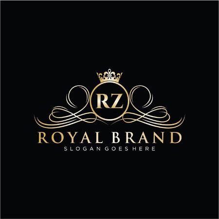 Initial handwriting logo design. Beautiful design logo for fashion, team, wedding, luxury logo. Logó