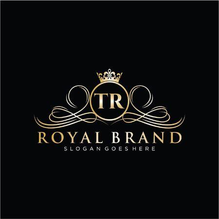 Initial handwriting logo design. Beautiful design logo for fashion, team, wedding, luxury logo.