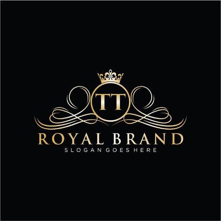 Initial handwriting logo design. Beautiful design logo for fashion, team, wedding, luxury logo. Logo