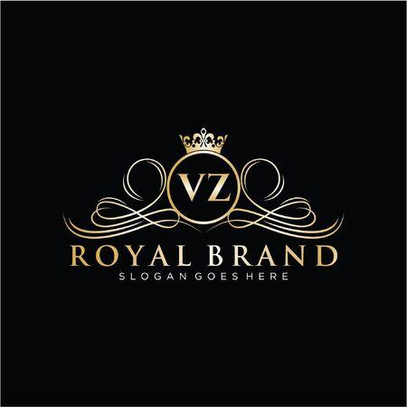 Initial handwriting design Beautyful designhandwritten for fashion, team, wedding, luxury . Vektoros illusztráció