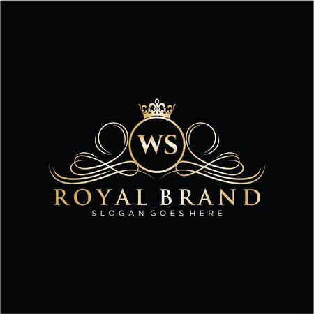 Initial handwriting  design Beautyful designhandwritten  for fashion, team, wedding, luxury . Illustration