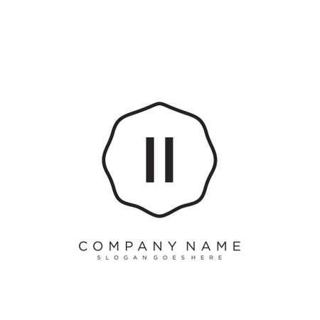 Initial handwriting logo design Beautiful design handwritten logo for fashion, team, wedding, luxury logo. 일러스트