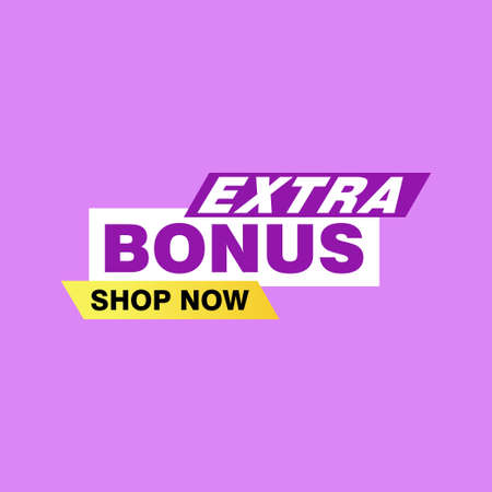 Vector Illustration Red Extra Bonus Label. Modern Web Banner Element Vecteurs