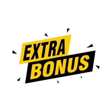 Vector Illustration Red Extra Bonus Label. Modern Web Banner Element Vektorové ilustrace