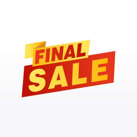 Final Sale banner, poster background. Big sale, special offer, discounts, Vector illustration