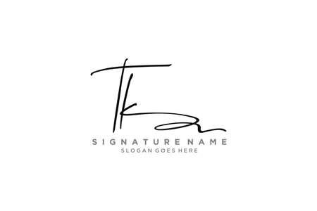 TK Letter Signature Logo Template elegant design logo Sign Symbol template vector icon