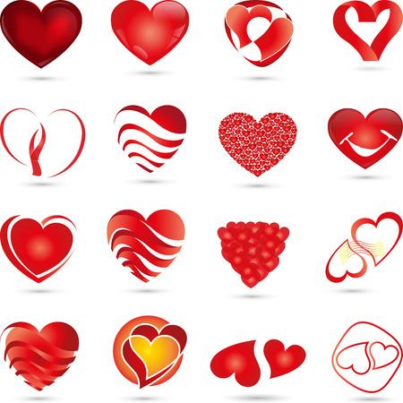 abbildung: icon, Herz, Herzchen, Sammlung
