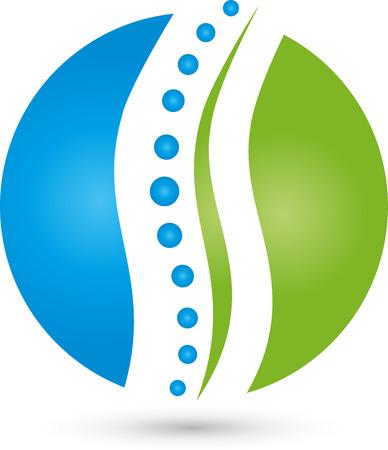 logo medicina: Fisioterapia Natur�patas Quiropr�cticos Medicina del Deporte Vectores