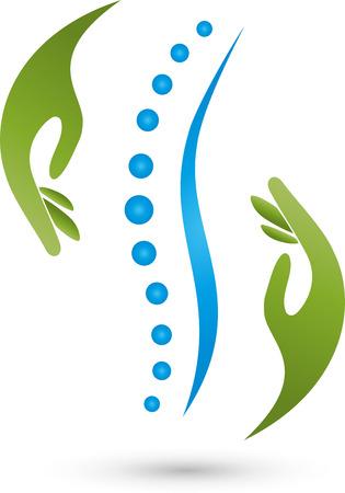 sportmassage: Chiropractoren Fysiotherapie Natuurgenezers Stock Illustratie