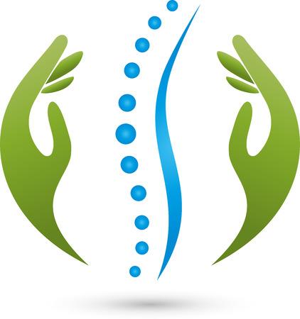 Chiropractoren Fysiotherapie Natuurgenezers Stock Illustratie