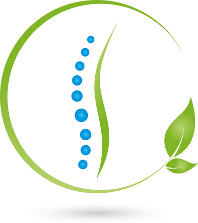 Logo Chiropractor, Physiotherapy Vettoriali