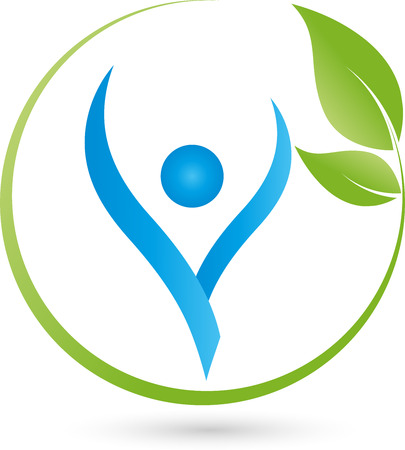 People, Fitness, leaves, Naturopaths  イラスト・ベクター素材
