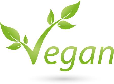 leafage: Vegetarian symbol with scrolling, Vegan