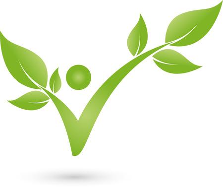 Der Mensch als eine Pflanze, Logo, Chiropraktiker, Sportmedizin Illustration