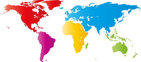 environmental policy: Map of the earth, earth, world, vector