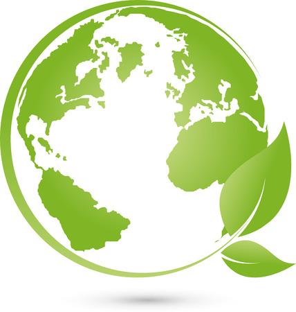 Logo, earth, globe, world globe, vector Illustration