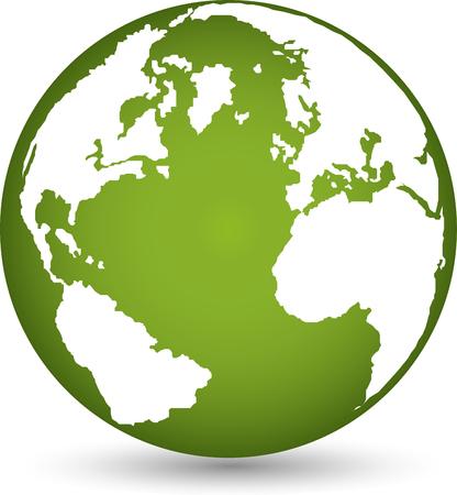 environmental policy: Logo, earth, globe, world globe, vector Illustration