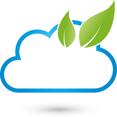green computing: Cloud computing, cloud and leaves, Green IT