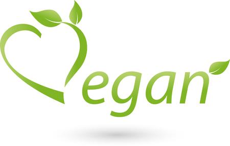 scrolling: Vegetarian icon scrolling, Vegan, heart