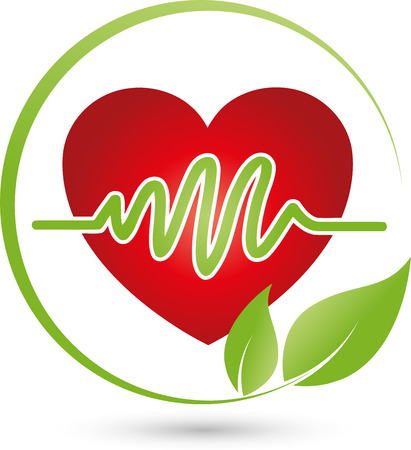 Heart and leaves, cardiology