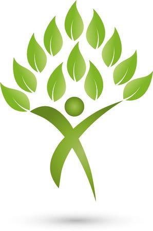 sports medicine: Man as a plant, Chiropractors, Sports Medicine Illustration