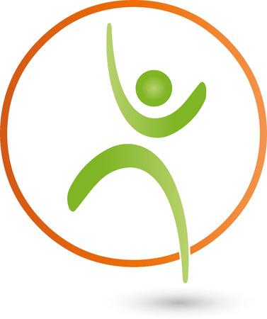 medizin logo: Menschen, Sport, Fitness, Sportmedizin, Logo