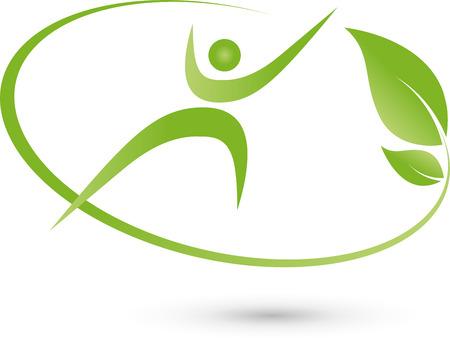 ser humano: Ser humano, persona, hojas, planta Vectores