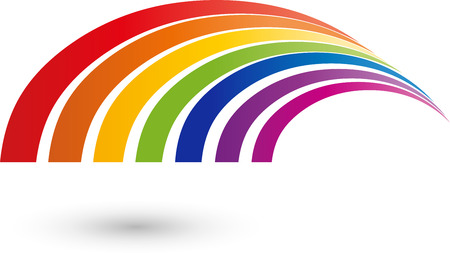 there: Rainbow icon, colored Illustration