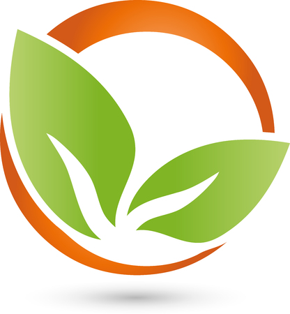 copywriter: Two leaves icon plant, Naturopaths