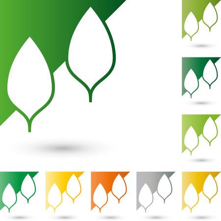 copywriter: Two leaves, icon, plant, garden