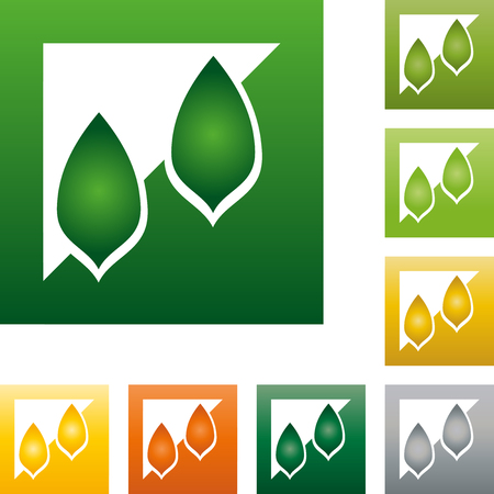 naturopaths: Two leaves, icon, plant, garden