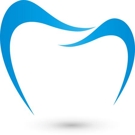 Ząb logo, zęba, stomatologia, dentysta Logo