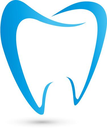 Logo dla stomatologów, stomatologiczne, ząb Logo